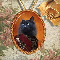 Black Cat Turkish Van Jewelry Pendant by NobilityCatsandPets, $34.90 #forever alone