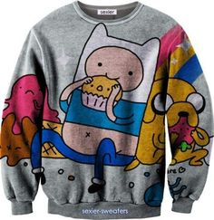 I found 'Adventure Time Finn and Jake Sweater' on Wish, check it out!