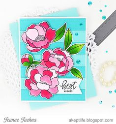 A Kept Life: Fusion Card Challenge Floral Wall Copic Marker Refills, Copic Markers, Fusion Card, Pretty Pink Posh, Blue Wood, Ready To Play, Wood Planks, Floral Wall, Challenges