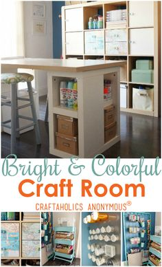 Fun and Bright Craft Room from Dinah at DIY Inspired!