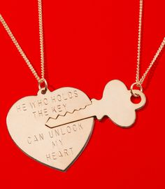 Literally teared up just by looking at this... This is such a cute thing for a daddy to give to his daughter when she starts dating. He holds the key to her heart until she meets the man she's going to marry and then at the wedding dad can give it to her husband. I'd cry like a baby, but I love it!