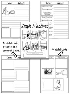 Here's a nice simple machines cut and paste activity