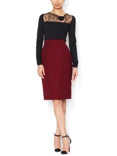 Silk Wool Pencil Skirt from Valentino Prêt-à-Porter on Gilt