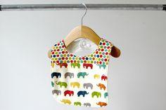 Baby/Toddler Bib Organic Dottie and Ellie Elephant by owesley