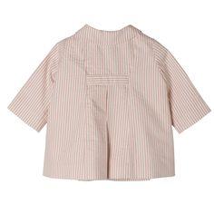 Manteau Lutèce Rayures rose fard Boutique en ligne Bonpoint