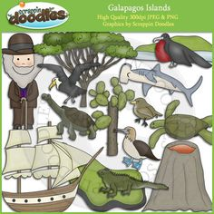 Galapagos Islands Clip Art $
