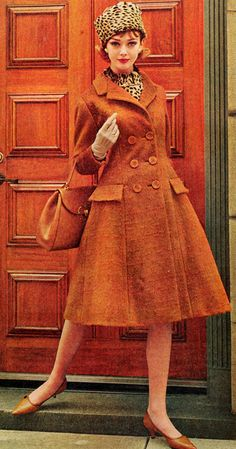 Oh, this coat! Vintage Mid Century fashion in Orange