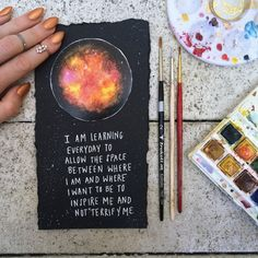 """Mini planet + galaxy """"I'm trying to allow the space between where I am and where I want to be to inspire me and not terrify me"""" Bullet Journal Art, Bullet Journal Inspiration, Journal Ideas, Art Sketches, Art Drawings, Arte Sketchbook, Journal Quotes, Scrapbook Journal, Art Graphique"""