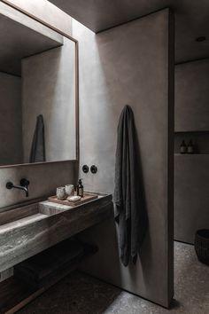 Nytt Casa Cook hotell i Chania igen av Annabell Kutucu Bathroom Interior, Modern Bathroom, Small Bathroom, Bathroom Ideas, Bathroom Bin, Glass Bathroom, Bathroom Designs, Bathroom Organization, Interior Paint