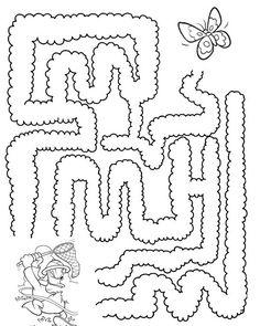 Actividades para niños preescolar, primaria e inicial. Plantillas con laberintos para imprimir para niños de preescolar y primaria.Laberintos. 5