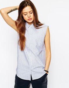 ASOS+Striped+Sleeveless+Shirt