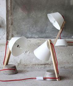 Lampe de bureau design en bois -  Drawer