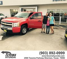 https://flic.kr/p/GW1je6 | Happy Anniversary to Shane on your #Chevrolet #Silverado 1500 from Ric Metcalf at Texoma Hyundai! | deliverymaxx.com/DealerReviews.aspx?DealerCode=L967
