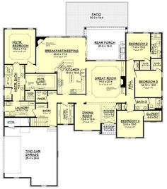 The Davis Road House Plan offers open spaces, high ceilings and flexibility for future spaces.