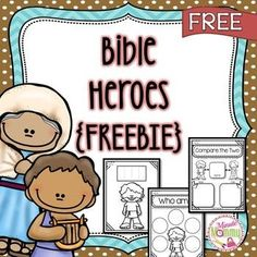 Included in this pack is a book the students will make about many heroes from the Bible There is a cover sheet which will help create a book for the students as you teach. Preschool Bible Lessons, Bible Activities For Kids, Bible Study For Kids, Bible Lessons For Kids, Kids Bible, Kids Sunday School Lessons, Sunday School Activities, Sunday School Crafts, Bible Story Crafts