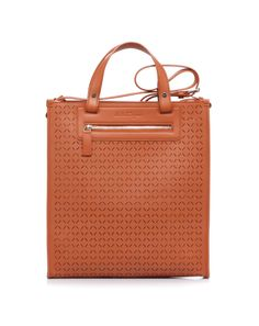 Perforated leather bag by @Salvatore Ferragamo