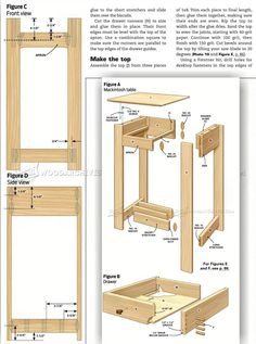 #3106 Mackintosh Table Plans - Furniture Plans