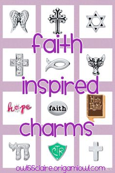 Faith inspired charms $5 each. Check them out on owl55claire.origamiowl.com