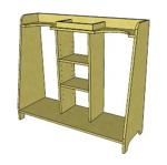free plans woodworking resource from Google 3D - golf caddy,storage,sketchup,Google 3D,3-D warehouse,garage,drawings,free woodworking plans,projects,do it yourself,woodworkers