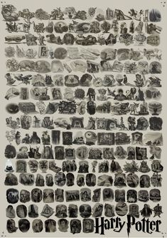 Every chapter illustration from the entire Harry Potter series!