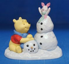 Winnie Pooh Piglet Frosty Snowman Fun Disney Precious Moments Figurine 131702 #PreciousMoments