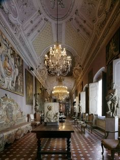 Gorgeous interiors of the Palazzo Magnani Feroni in Florence, Italy.