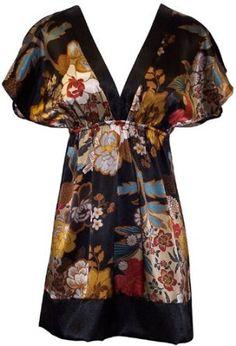 Floral Satin Kimono.