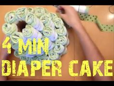 How to make a Nappy Cake - two minute tutorial with printable instruction sheet! - YouTube