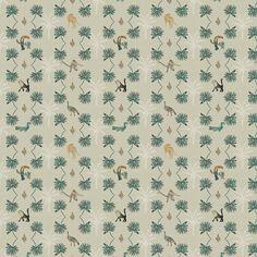 Striped Wallpaper Design, Designer Wallpaper, Monteverde, True Colors, Safari, Past, Birds, Texture, House