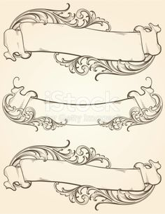 Designed by a hand engraver. Vintage banner set with highly detailed engraved scrollwork. Copy space is ready for the text of your choice. Change color and scale easily with the enclosed EPS 10 and...