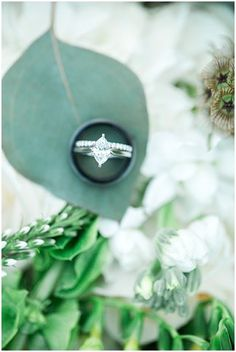 Ring in bouquet | Sarah Renee Studios | see more at http://fabyoubliss.com