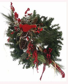 Kardinalsammlung Prairie Gardens Champaign Illinois www. Holiday Wreaths, Christmas Mantles, Holiday Decor, Christmas Floral Designs, Champaign Illinois, Prairie Garden, All Things Christmas, Garland, How To Memorize Things