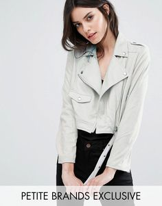 Buy it now. Missguided Petite Exclusive Faux Suede Biker Jacket - Grey. Petite coat by Missguided Petite, Faux-suede, Added stretch for comfort, Studded collar, Asymmetric zip fastening, Functional pockets, Belted hem, Regular fit - true to size, Machine wash, 90% Polyester, 10% Elastane, Our model wears a UK 8/EU 36/US 4. ABOUT MISSGUIDED PETITE With an eye on the catwalks and hottest gals around, Missguided's in-house team design for the dreamers, believers and night lovers. Taking the…