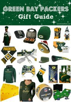 Green Bay Packer Gift Guide. 20 Suggestions for your Packer's Fan! #GreenBayPackers #Gifts Our Knight Life