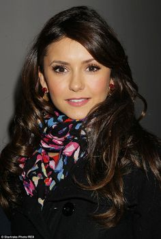 Great make-up! Breathtaking beauty: The Vampire Diaries star Nina Dobrev looked stunning despite being all rugged up as she attended the 16th Annual Savann...