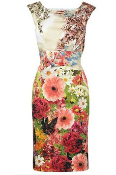Gorgeous Garden Print Dress