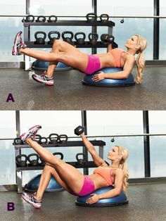 The Secret to a Killer Core Muscle and Fitness Hers. This actually looks like a really solid whole body workout. Lose weight and build muscle, using protein powders!