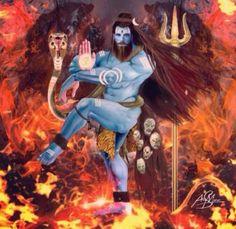 Shiva Tandav, Rudra Shiva, Shiva Art, Hindu Art, Lord Shiva Hd Images, Shiva Lord Wallpapers, Angry Lord Shiva, Bhagavata Purana, Shiva Tattoo