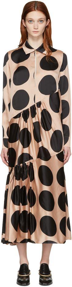 Stella McCartney - Beige & Black Simone Dress