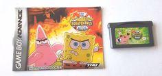 Gameboy Advance Game Gba SP DS Dsl SPONGEBOB SQUAREPANTS MOVIE + Manual Kid Fun
