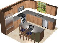 12 x 10 kitchen layout - Google Search - Modern Kitchen
