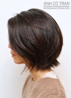 brunette bob hairstyles 2019 – - All For Hair Color Trending Layered Bob Hairstyles, 2015 Hairstyles, Cute Hairstyles For Short Hair, Short Hair Cuts, Short Brunette Hairstyles, Short Layered Haircuts, Pretty Hairstyles, Brunette Bob, Medium Hair Styles
