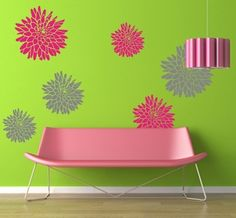 Wall Decal MUMS Vinyl Wall Decal LARGE SET. $56.00, via Etsy.