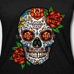 Sugar Skull, Day Of The Dead Art Print by Folknfunky - X-Small Mexican Skull Tattoos, Sugar Skull Tattoos, Mexican Skulls, Mexican Men, Los Muertos Tattoo, Sugar Skull Artwork, Skull Pictures, Day Of The Dead Skull, Skull Art