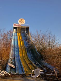 Dadipark was opened in october 1949 in the belgium town of Dadizeele. It was until it closed in 2003 one of the oldest amusement park of Belgium. Since 2003 nature is slowly invading the deserted park, closed after an accident. Dadiland, abandoned amusement park, Dadizele, Belgium