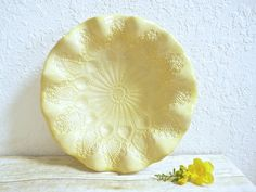Ceramic Lace Doily Bowl Handcrafted Decorative by MyMothersGarden, $48.00