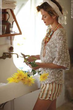 Anthropologie Farm Kitchen Sink with Yellow Flowers #FlowerShop
