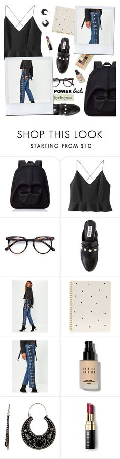 """What's Your Power Look? #2"" by ioanathe92liner ❤ liked on Polyvore featuring Loungefly, WithChic, Ace, Steve Madden, Sugar Paper, Maybelline, Bobbi Brown Cosmetics, Stephan & Co. and MyPowerLook"