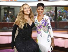 MARIAH CAREY AND TAMRON HALL Mariah Carey stikes a pose with Tamron Hall after her musical performance on the Today Show in New York City._17 05 2014