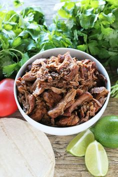 Killer Crockpot Carnitas from The Stay At Home Chef. The best crockpot carnitas you'll ever have! Killer Crockpot Pork Carnitas made in your slow cooker so it couldn't be any easier! Eat it plain or serve it up in tacos, burritos, quesadillas, or enchiladas. It'll be killer!